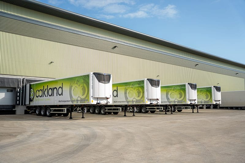 Oakland Distribution launched its new fleet and livery of Renault trucks and Gray & Adams trailers, taking an initial delivery of 20 trailers and 10 tractor units and more than doubling capacity to total of 48 trucks and 55 trailers