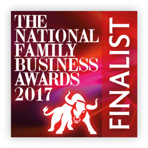 National Family Business Red Ribbon Big Heart Award finalist. (Winner announced in London on 15th July 2017).